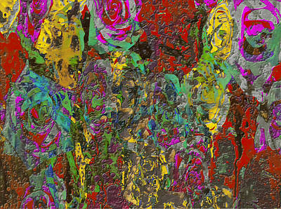 Aster Mixed Media - Flowers 1d by Brian Reaves