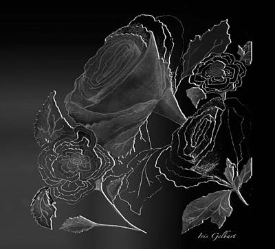Digital Art - Flowers  #2 by Iris Gelbart