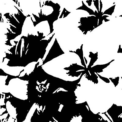Floral Abstract Drawing - Flowers 2 by Katrina Britt