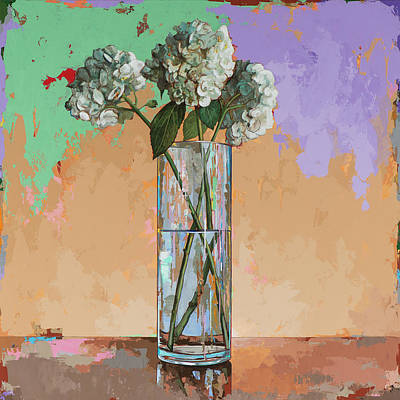 Hydrangea Painting - Flowers #20 by David Palmer
