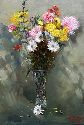 Still Life Painting - Flowers 2010 by Ylli Haruni