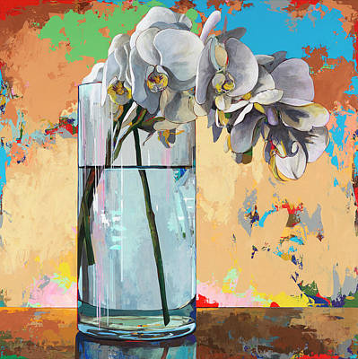 Orchid Wall Art - Painting - Flowers #21 by David Palmer