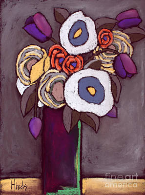 Floral Painting - Flowers - 4 by David Hinds