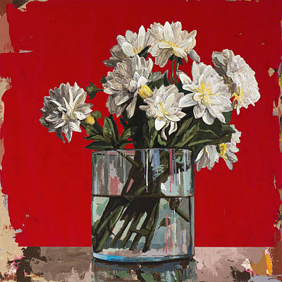 Painting - Flowers #4 by David Palmer