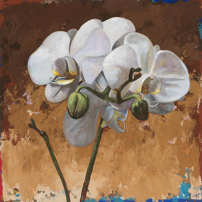 Orchids Painting - Flowers #7 by David Palmer