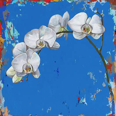 Orchid Wall Art - Painting - Flowers #9 by David Palmer