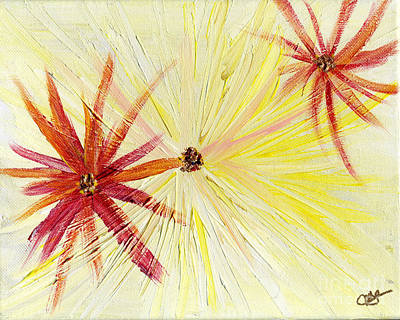 Painting - Flowers Abstract by Julia Stubbe