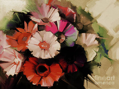 Flowers Abstract Painting 5501 Original