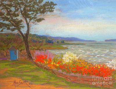 Pastel - Flowers Along The Boardwalk by Rae  Smith PAC
