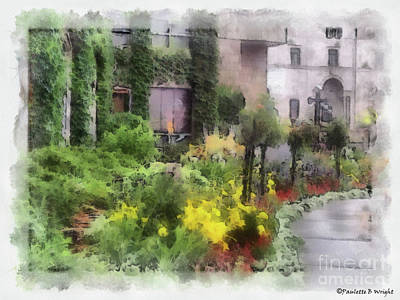 Photograph - Flowers Along The Pathway by Paulette B Wright
