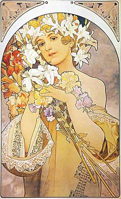 Painting - Flowers by Alphonse Mucha