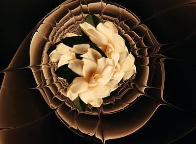 Mixed Media - Flowers And Chocolate by Georgiana Romanovna
