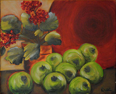 Painting - Flowers And Fruit by Debbie Frame Weibler