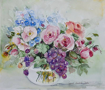 Painting - Flowers And Fruit by Ingrid Dohm