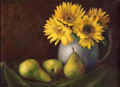 Painting - Flowers And Fruit by Janet King