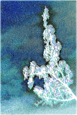Flowers And Ice Art Print