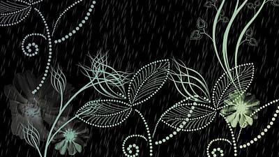 Flowers And Rain Art Print by Carol Crisafi