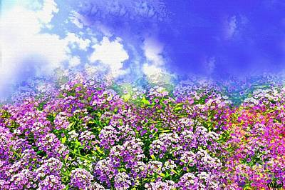 Photograph - Flowers And Sky by Saundra Myles