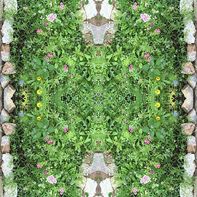Jonny Jelinek Royalty-Free and Rights-Managed Images - Flowers and Stones I by Jonny Jelinek