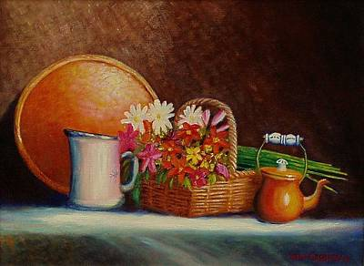 Painting - Flowers And Things by Gene Gregory