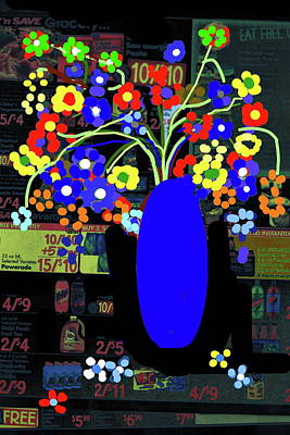 Digital Art - Flowers And Vase-2 by Anand Swaroop Manchiraju