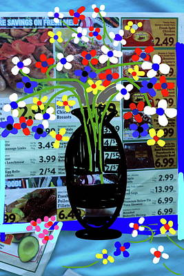Digital Art - Flowers And Vase-3 by Anand Swaroop Manchiraju