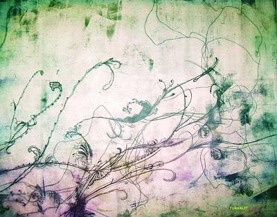 Flowers And Vines Two Art Print by Tomislav Neely-Turkalj