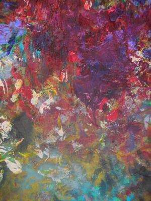 Palette Knife Painting - Flowers And Water by Karen Lillard