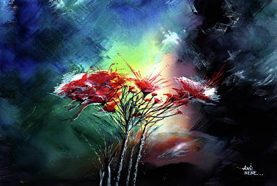 Painting - Flowers by Anil Nene