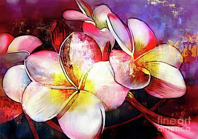 Flower Painting - Flowers-art-0321 by Gull G