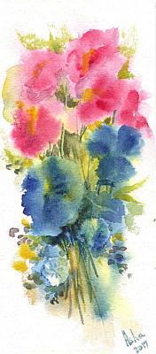 Painting - Flowers by Asha Sudhaker Shenoy