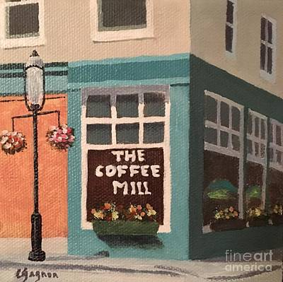 Painting - Flowers At Coffee Mill Mini by Claire Gagnon