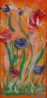 Painting - Flowers At Sunset 2 by Bill Bailey
