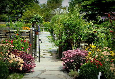 Photograph - Flowers At The Garden Gate by Lori Seaman