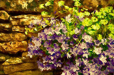 Flowers At The Old Mill Art Print