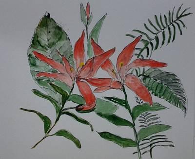 Painting - Flowers by B L Qualls