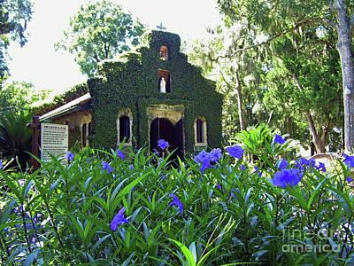 Photograph - Flowers Before Mission Nombre De Dios by D Hackett