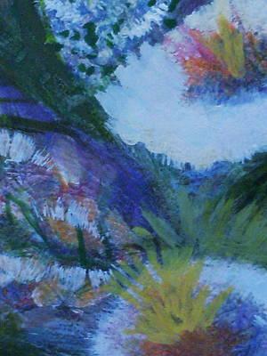 Flowers Bending With The Wind Art Print by Anne-Elizabeth Whiteway