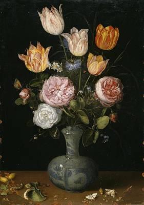Viejo Painting - Flowers by Brueghel El Viejo