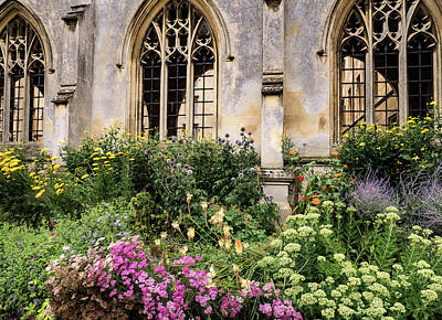 Photograph - Flowers By Bridge by Jean Noren