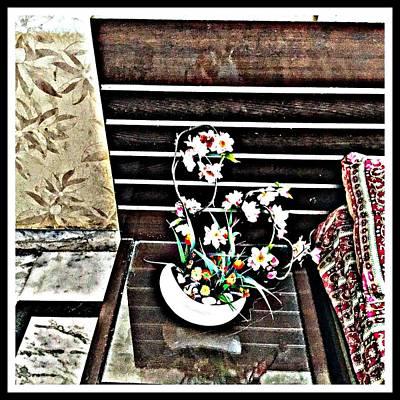 Flowers By My Side Art Print by Jagjeet Kaur