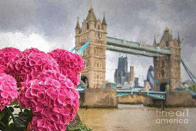 Photograph - Flowers By The Bridge by Howard Ferrier