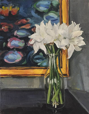 Newton Painting - Flowers By The Lillies by Jazmin Angeles