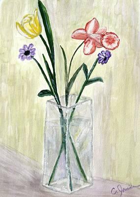 Painting - Flowers by Cathy Jourdan