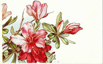 Painting - Flowers Christmas Vintage by R Muirhead Art