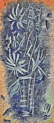 Flowers. Crystal Vase. Original