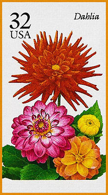 Bloom Painting - Flowers Dahlia by Lanjee Chee