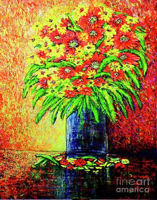 Painting - Flowers/f 4/ by Viktor Lazarev