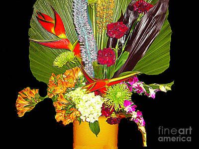 Photograph - Flowers - Fan Arrangement by Merton Allen