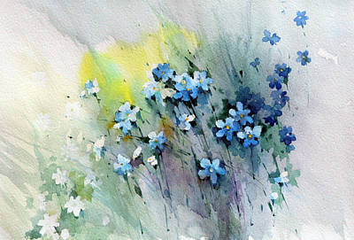 Flowers Fantasy Art Print by Natalia Eremeyeva Duarte